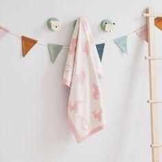 Bunny Jacquard Blanket | JoJo Maman Bebe