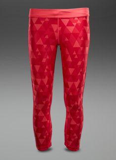 Nike Womens Printed Relay Crop - Womens Running Clothing - Geranium-Matte  Silver Vêtements De a365939ea61