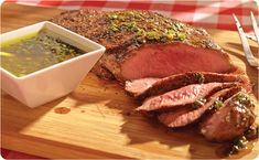 Flat Iron Steak with Chimichurri Sauce ~ The deep flavor of flat iron steak works really well with the Chimichurri Sauce | BetterThanBouillon.com