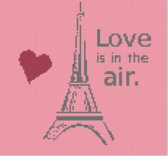 Paris Love Cross Stitch Pattern by MotherBeeDesigns on Etsy, $0.99