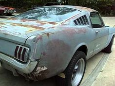 65 mustang fast back orig v8,stick shift car. Barn Find