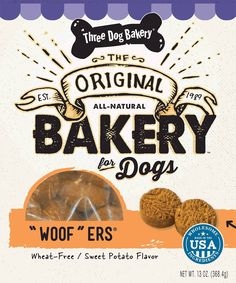 Three Dog Bakery Wheat Free Sweet Potato Woofer Cookies, Baked Dog Treats, 13-Ounce *** Tried it! Love it! Click the image. : Dog food types