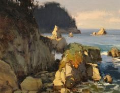Brian Blood - Afternoon at Whalers Cove Pt Lobos- Oil - Painting entry - July 2014   BoldBrush Painting Competition