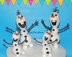 Olaf!Varios tamaños,para adorno de torta o para souvenirs!Realizados en porcelana fria!