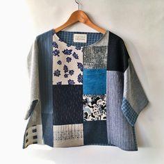 "175 Likes, 5 Comments - Susan Eastman (@susaneastmanstudio) on Instagram: ""patchwork crop, just posted. #slowfashion #handmade #patchwork #top #japanese #hemp #organic…"""