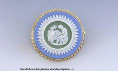 Tri-color 14k gold pin. 1 inch in diameter. 1964.