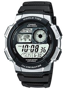 Casio Collection Gents Multifunction Digital Watch  AE1000W1A2VEF -- Learn more by visiting the image link.Note:It is affiliate link to Amazon.
