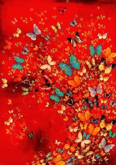 Papallones volotejant entre les flors, formant formes i alegrant la  mirada amb els seus colors. Pinzellades de alegria i moviment qu...
