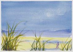 paysage crayon aquarelle facile - Google zoeken