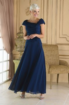 Mother of the Bride Gowns 2014 | Sleeveless Chiffon Dark Navy Mother of the Bride Dress 2014