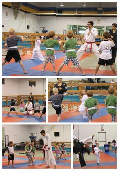 """Power Rangers Birthday Party -- Karate Class oh my goodness how much would the twins love it if my brother did a """"training class"""" for them!!!!!! This is perfect!"""