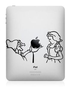 Snow White and Evil Queen iPad Decal