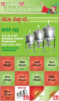 Homebrew Finds: $125 Off Stainless Steel Conical Fermenters