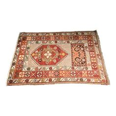 "Image of Vintage Bellwether Turkish Oushak Rug - 3'4""x5'1"""