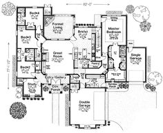 House Plan 66255   European Plan with 2903 Sq. ft.