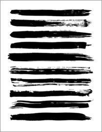 Black lines on white