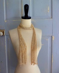 Very long vintage beaded wrap necklace ========Versatile! $40.00