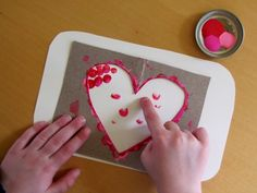 finger print painting - could be any simple shape
