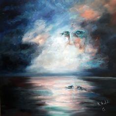 G.  Oil on canvas 100X100 cm