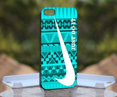Nike Just Do It Mint Design Print on Hard Cover iPhone 4/4S Black Case | MonggoDiTumbas - Accessories on ArtFire