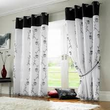 How to select the right window curtains in your interior decoration White Living Room, Black Curtains, Voile Curtains, White Eyelet Curtains, Black And White Living Room, Lined Curtains, White Curtains, Black White Curtains, Curtain Styles