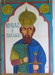 POLISH SCHOOL of cinema  POSTERS- Prince and Tatars.Original Poster,Bohdan Butenko 1971s. Edition Poster.Limited Film