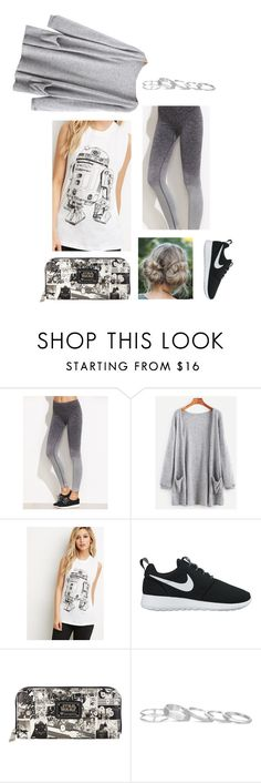 """""""Untitled #320"""" by maw1230 ❤ liked on Polyvore featuring Forever 21, NIKE, Loungefly and Kendra Scott"""