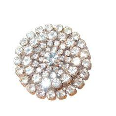 Sparkling Large Dimensional Crystal Swarovski Rhinestone Brooch