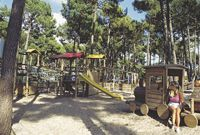 Play area at Airotel de l'Ocean, Lacanau Ocean, France