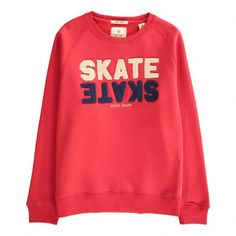 "Scotch & Soda ""Skate"" Patch Sweatshirt Red - Teen Fashion - Smallable"