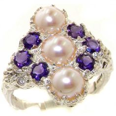 High Quality Solid 925 Sterling Silver Natural Pearl