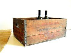Vintage Beer Crate Chicago / Industrial Home by BirdinHandVTG, $34.00