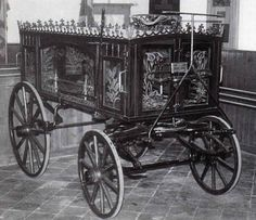 Victorian hearse / funeral carriage.