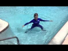 Water Exercise: Clock for neck pain STRETCH#7 - WECOACH - YouTube
