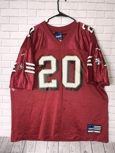 d21a3854a VTG Garrison Hearst 20 San Francisco 49ers Red Jersey NFL Adidas Mens XL |  eBay