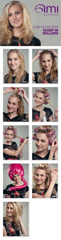 use the fabulous Sleep in Rollers with their hairdryer hood
