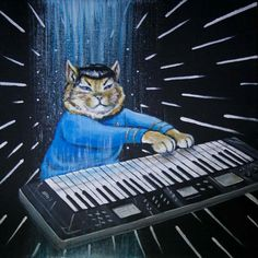 Stop everything and look at Keyboard Spock Cat playing a synthesizer.  Amazing!