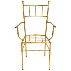 Gilt Metal Faux Bamboo Chair