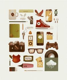 manuprado #poster icon illustration