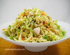 Cabbage Chicken with Ramen Noodles Salad Recipe
