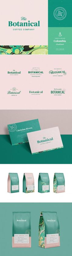 The botanical coffee company branding and packaging by nathan riley | Fivestar Branding Agency – Design and Branding Agency & Curated Inspiration Gallery #coffee #branding #packaging #logo #design #designinspiration #inspiration #businesscards #behance #pinterest #dribbble #fivestarbranding