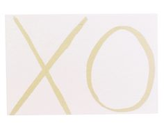 """XO  send kisses and hugs with our mini cards.  3.5"""" x 2.3""""  10 for $10 from Aquarelle Maison."""