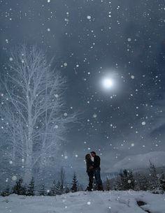 Romantic on a snowy evening.