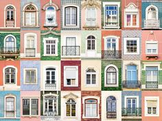 Windows of the World - Figueira da Foz, Portugal Portfolio of the Photographer Andre Vicente Goncalves. Urban Architecture, Architecture Details, Window Grids, Work Images, Goncalves, Glitter Houses, Grid Design, Built Environment, Photography Projects