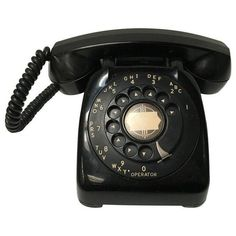 Vintage Leich Black Bakelite Dial Telephone ($149) ❤ liked on Polyvore featuring home, home decor, decor, vintage home accessories, black plates, vintage home decor, black home decor and vintage plates