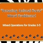 """This set of 20 word problems supports many features of the Common Core State Standards. Pages can be printed, cut into quadrants, and laminated to use as task cards (color version) or can be copied and cut apart to use in math journals. Pages are included in color AND with white background for easy copying. There is also a blank """"work sheet"""" where students can show their work if you use these as task cards."""
