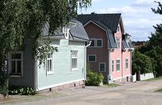 Loviisa Wooden Houses, Old Houses, Colorful Houses, Dream House Exterior, Building Materials, Log Homes, Homeland, Short Film, House Colors