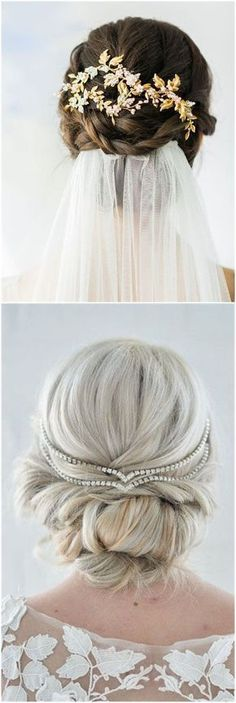 Wedding Hairstyles » Hair Comes the Bride – 20 Bridal Hair Accessories Get Style Advice for Any Budget ❤️ See more: http://www.weddinginclude.com/2017/03/hair-comes-the-bride-bridal-hair-accessories-get-style-advice-for-any-budget/ #weddingcrowns