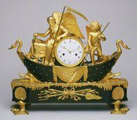c. 1800-1810 Claude Galle, Mantel Clock; Bronze, gilded bronze (French)