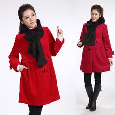 2013 Autumn And Winter Maternity Clothes Elegant Wool Coat With Rabbit Fur Scarf Muffler Thick Woolen Jacket Maternity Outerwear